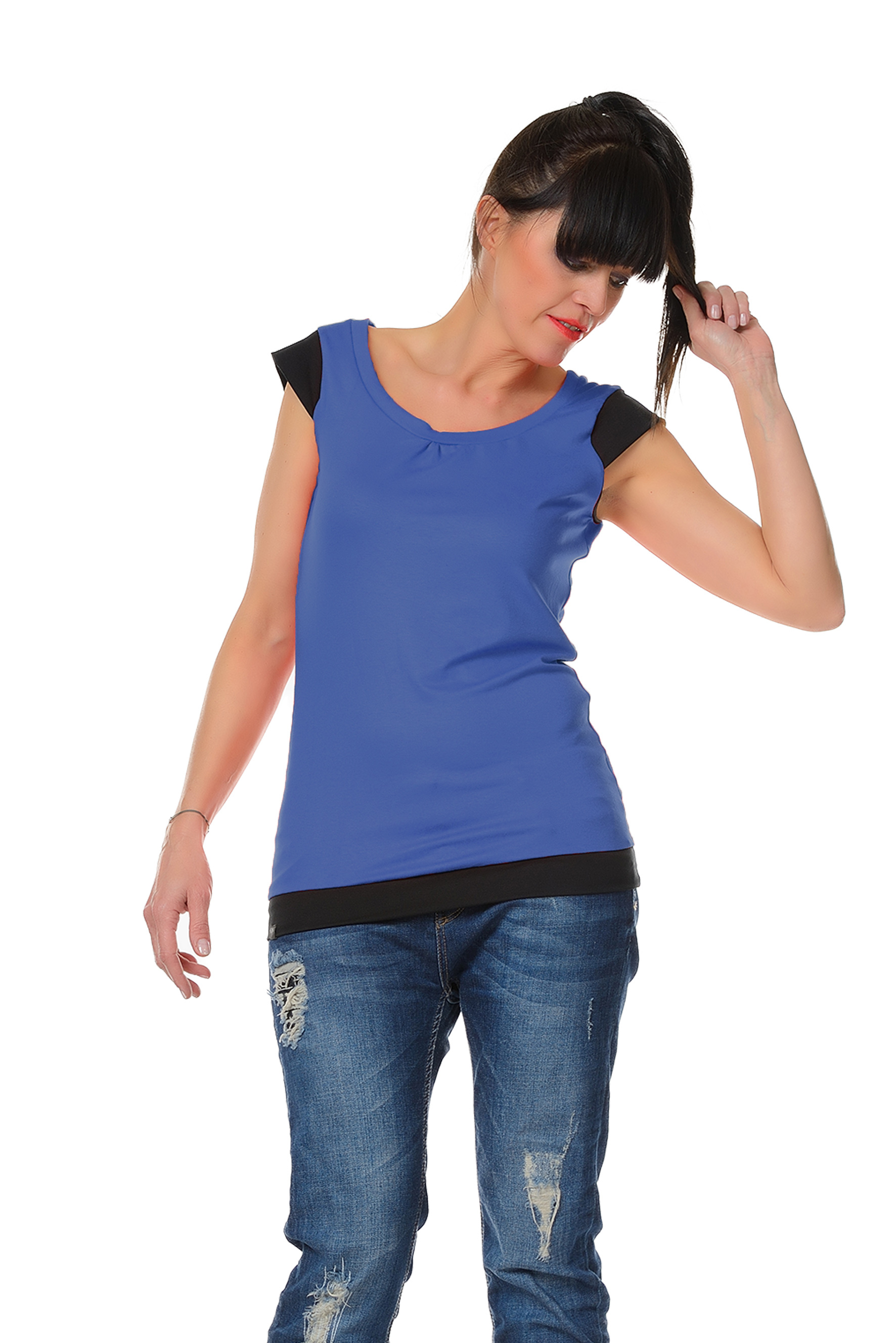 Magic Flower Tee farbig Blau